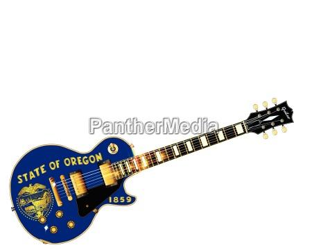 oregon state flag guitar
