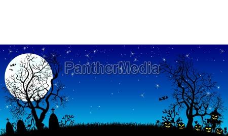 halloween night banner