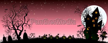 night on halloween banner