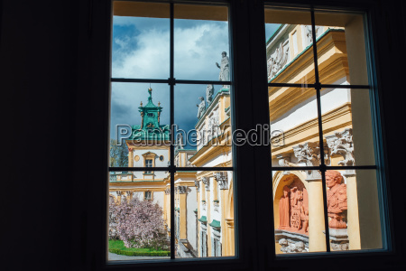 old antique palace in warsaw wilanow