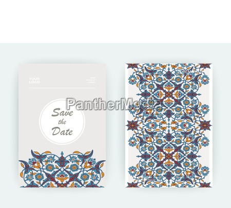 arabesque floral decoration print border design