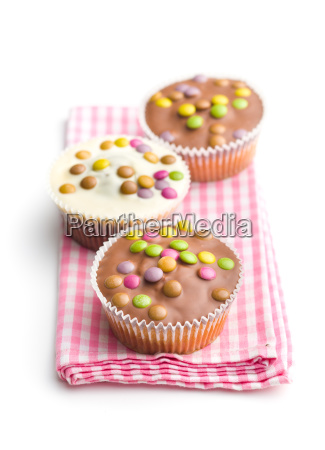 sweet cupcakes with candies