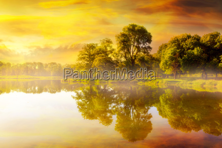 sunrise at trojan park in rainier