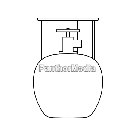 icon of camping gas container