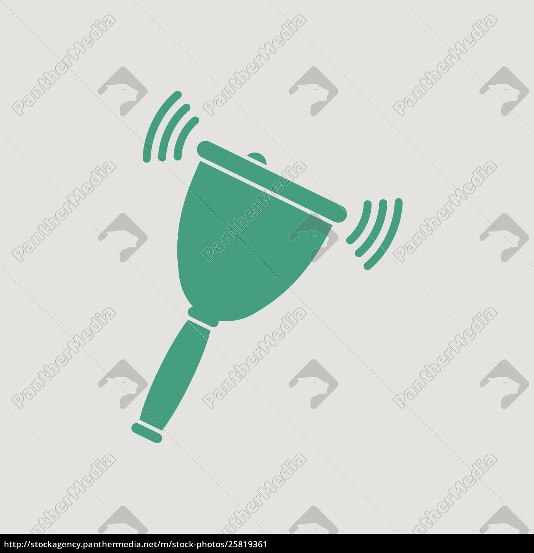 school, hand, bell, icon - 25819361