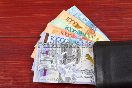 money from kazakhstan in the black