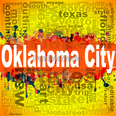 oklahoma city word cloud design