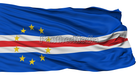 cape verde flag isolated on white