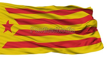 catalan nationalism flag isolated on white