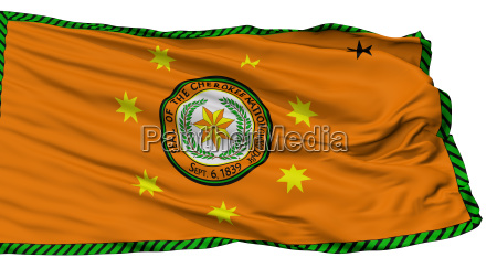 cherokee nation indian flag isolated on