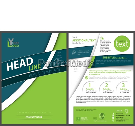 modern geometric flyer template with curved