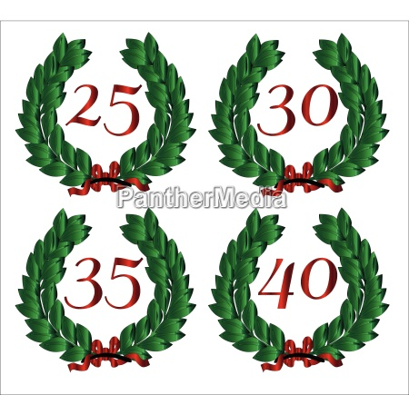 number isolated wreaths