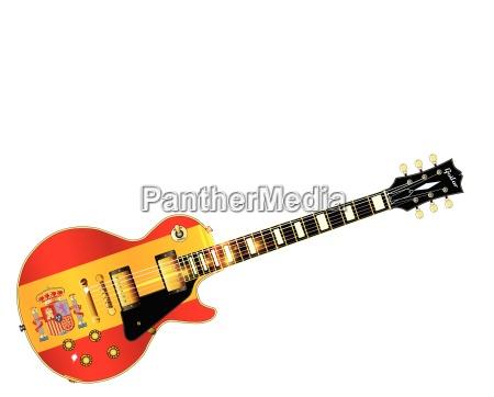 spanish flag guitar