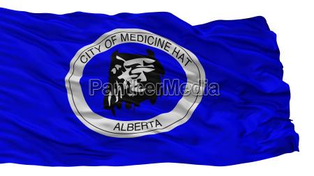 medicine hat city flag canada alberta