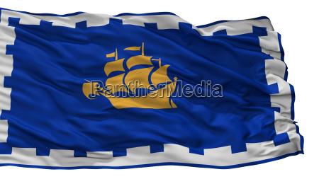 quebec city city flag canada isolated