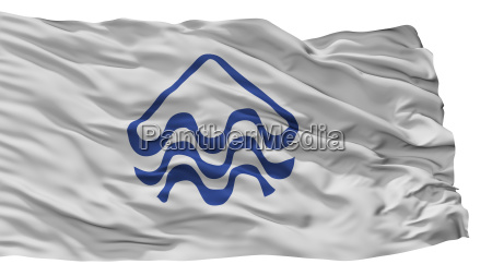pucon city flag chile isolated on