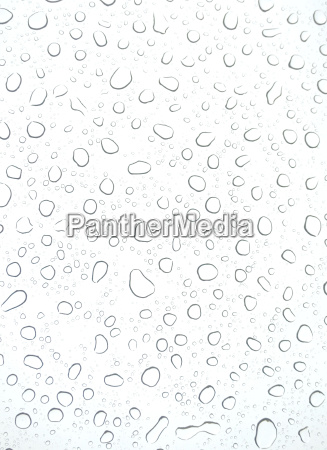 white background with fresh water drops