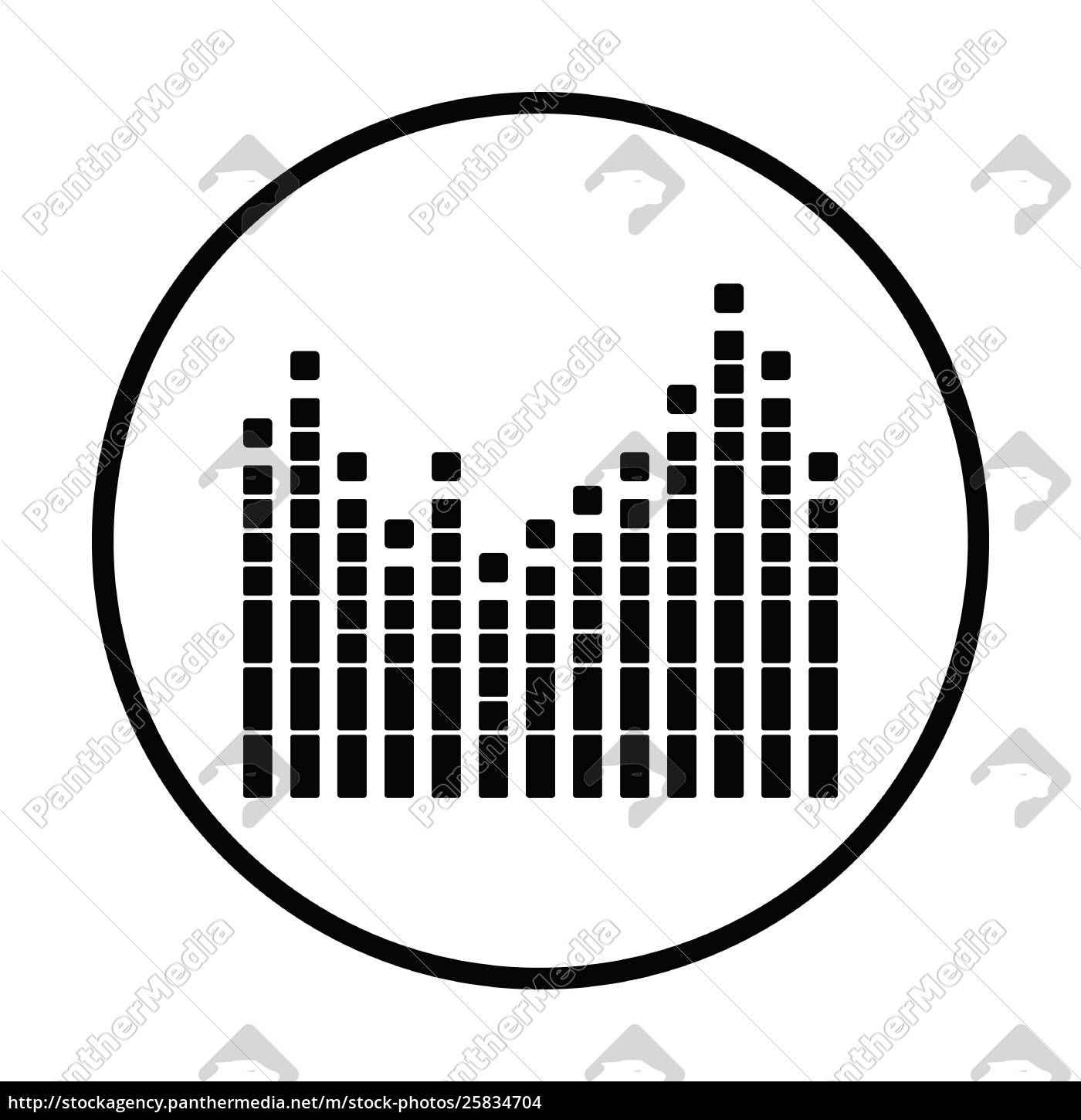 Royalty free vector 25834704 - Graphic equalizer icon