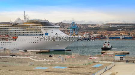 luxury cruise ship costa mediterranea entering