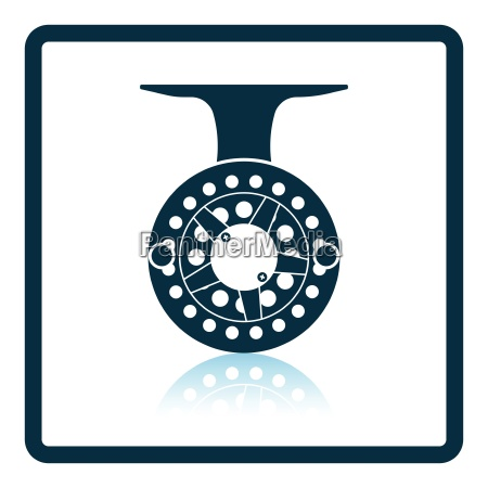 icon of fishing reel on