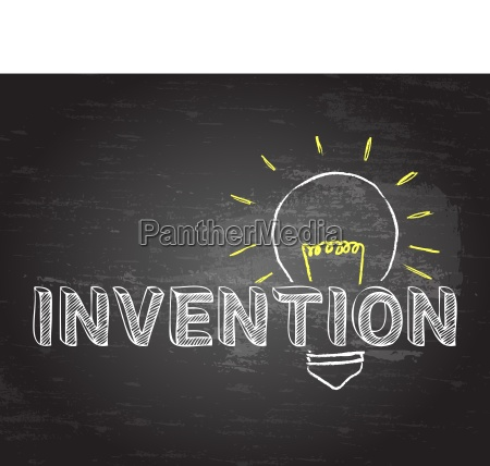 invention in light bulb blackboard