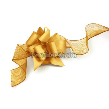golden color ribbon