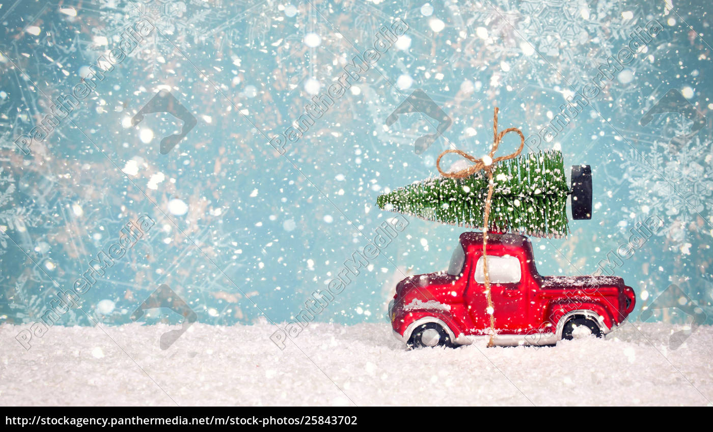 Christmas Tree On Toy Car Christmas Holiday Stock Image 25843702 Panthermedia Stock Agency