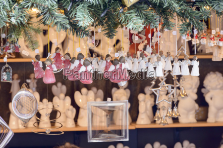 suspended little angels in stall at