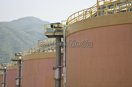 digestion tanks in a sewage treatment