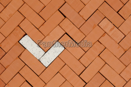 pattern with fish bone bricks