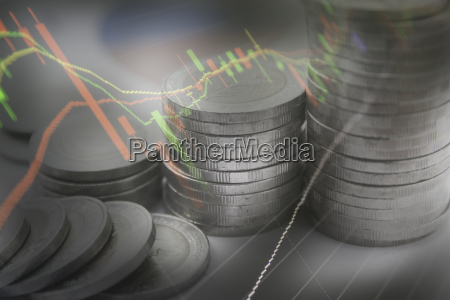 double exposure stock financial indices with