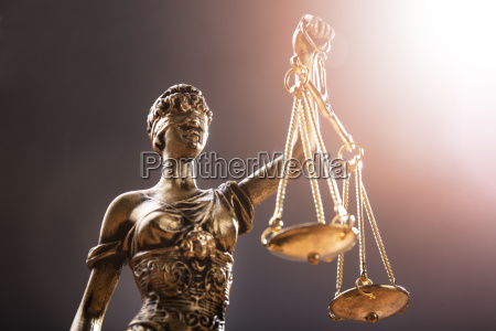 close up of justice statue