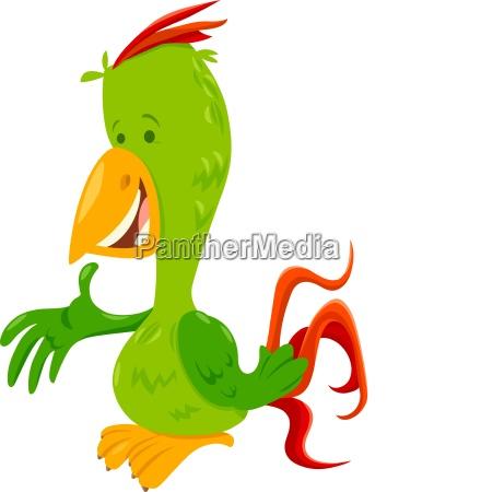 funny, parrot, bird, cartoon, animal, character - 25850418