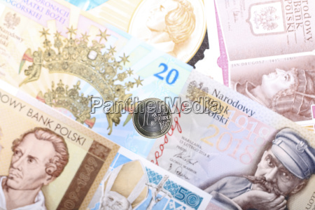 euro coin on the background of
