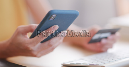 using cellphone and credit card for