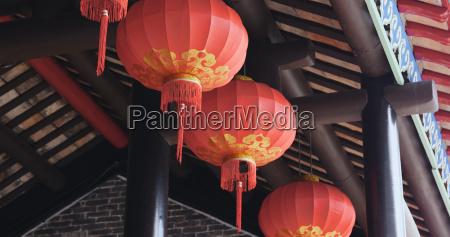 chinese lantern hanging at outdoor