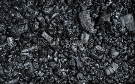 texture of black burnt coal with