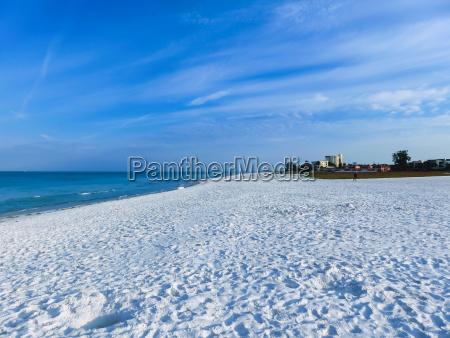 beach walking on siesta key beach