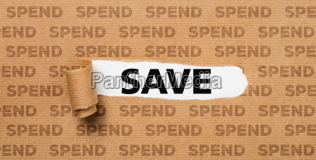 torn paper save or spend