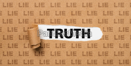 torn paper truth or lie