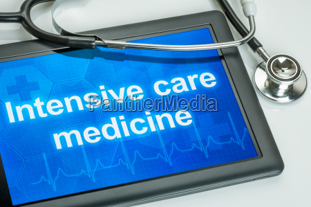 tablet with the text intensive care