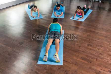 high angle view of a fitness