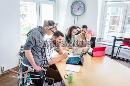self employed young man analyzing a