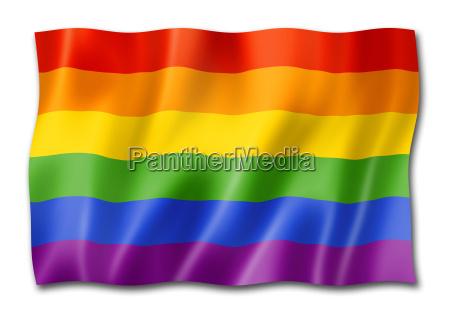rainbow gay pride flag isolated on