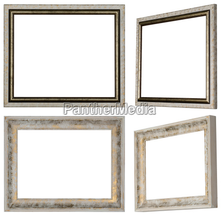white picture frames with profile and