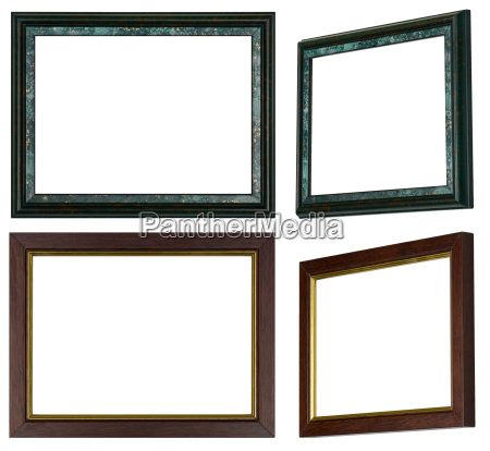 two picture frames each with two