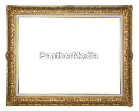 antique picture frame gold plated with
