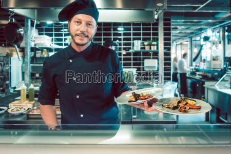 portrait of a confident master chef