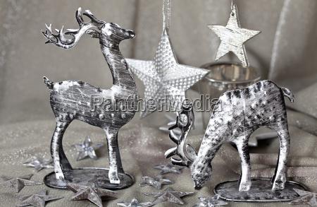 silver christmas reindeer decoration