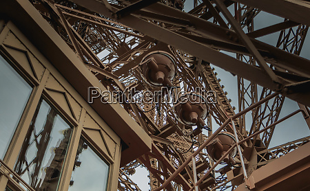 detail of the eiffel tower in